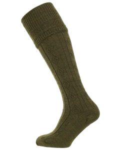 The Beater Wool Shooting Sock in Greenacre
