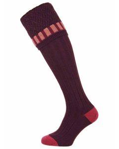 The Bristol 'Plum' Merino Wool Shooting Sock