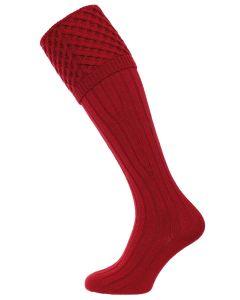 The Chelsea Shooting Sock - Deep Red