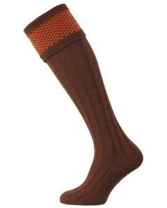 The Penrith Wool Shooting Sock - Spice