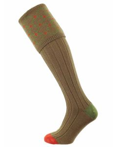 The Regent Merino Shooting Sock, Nutmeg