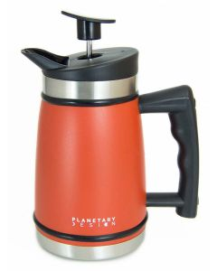 Planetary Design French Press with Brü-Stop, Red Rock