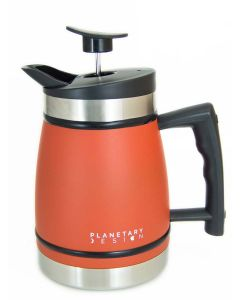 Planetary Design 8 Cup French Press with Bru Stop, Red Rock