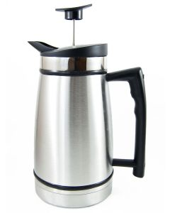 Planetary Design 12 Cup French Press with Bru Stop, Chrome