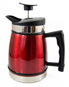 Planetary Design 8 Cup French Press with Bru Stop, Red