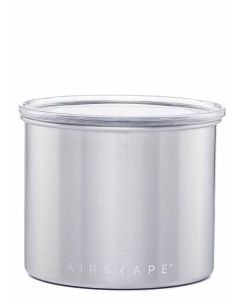 """Airscape Food Storage Canister - Small 4"""" - Brushed Steel (Chrome)"""