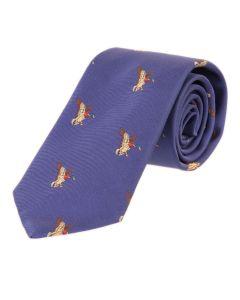 Seaward & Stearn London Woven Silk Tie - Blue - Duck
