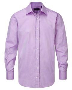 Seaward & Stearn of London, Italian Cotton Herringbone Shirt, Lilac Herringbone