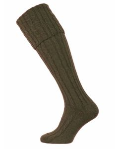The Skye Cashmere Shooting Sock - Loden