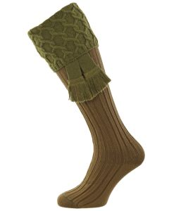 Khaki Green Shooting Sock