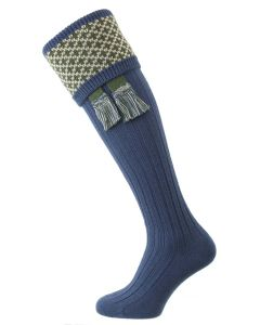 The Whitley Shooting Sock with Garter, Ocean
