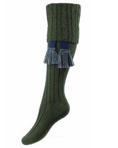 The Lady Harris Shooting Sock, Spruce