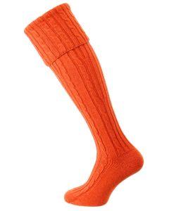 The Skye Cashmere Shooting Sock, Furnace