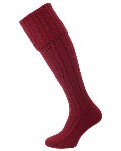 The Skye Cashmere Shooting Sock, Merlot