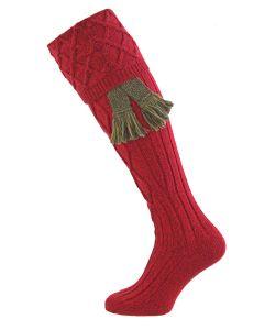 Cherry Marl, Buxton - Fine Merino Shooting Sock