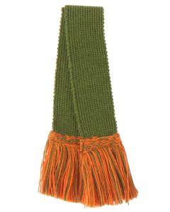 Classic Garter - Ivy Green with Ivy Green & Burnt Orange 16