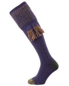 The Ambassador Merino Wool Shooting Sock, Wild Heather