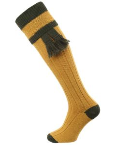 The Willersley Shooting Sock,  Gold & Olive