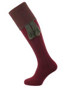 The Chiltern Wool Shooting Sock, Burgundy