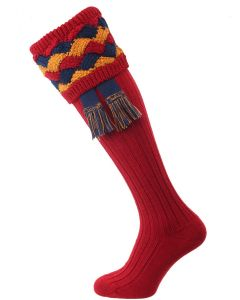 The Bowhill Shooting Socks, Brick Red