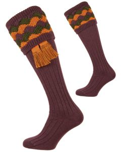 The Bowhill Thistle, Merino Blend Shooting Sock