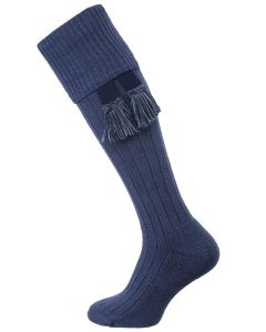 The Dormington Cushion Sole Cotton Shooting Sock, Ink Marl