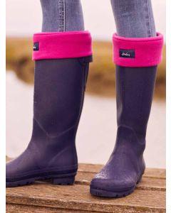 Joules Welton Fleece Welly Boot Socks, Ruby Pink 210140