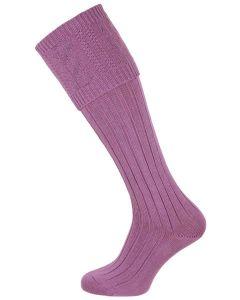 The Berrington 'Buddleia' Cotton Cable Top Shooting Sock