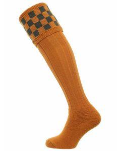 The Bowmore 'Ochre & Spruce' MK2 Cushion Foot Shooting Sock