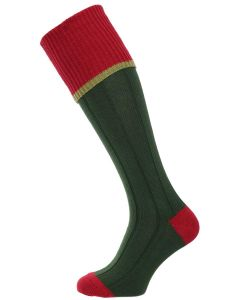 The Cobnash Cotton Shooting Sock, Conifer with Currant