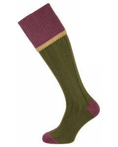 The Cobnash 'Moss & Raisin' Cotton Shooting Sock