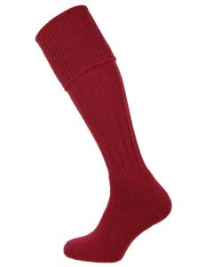 The Shooting Sock Company - The Dinmore Cushion Foot Shooting Sock - Cherry