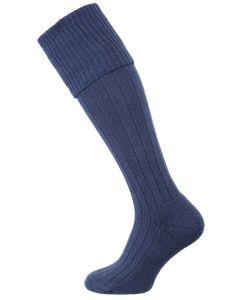 The Dormington Cushion Sole Cotton Shooting Sock, Ink Marl