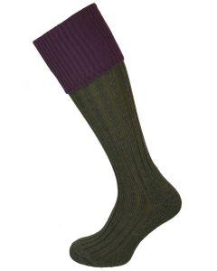 The Lintridge 'Juniper & Cassis'  Merino Shooting Sock