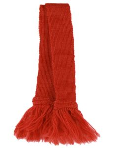 Premium Wool Garter - Solid Ruby