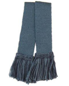 Classic Merino Wool Garter - Ancient Blue & Navy