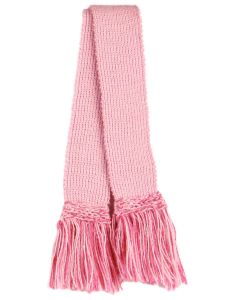 Classic Merino Blend Garter, Rose Pink with Dusky Pink