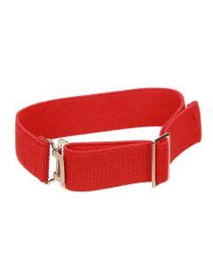 Heavy Gauge, Fully Adjustable Elasticated Sock Garter, Red