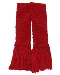 Classic Merino Blend Garter - Brick Red