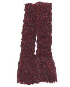 Basket Weave Merino Blend Garter - Sloeberry Marl