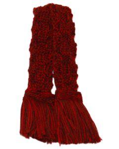 Basket Weave Merino Blend Garter - Merlot