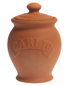 Terracotta Garlic Storage Pot with Lid - UK Made