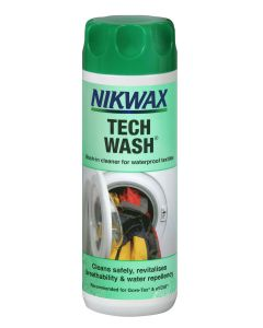 Nikwax Tech Wash - Cleaner for wet weather clothing and outdoor gear.