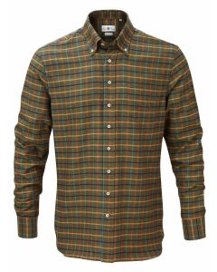 Alan Paine Tuckton Button Down Shirt, Green Check