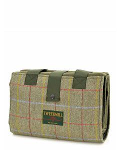 Tweedmill Leisure Rug with Pocket & Waterproof Backing - Sage/Olive/15 - 137 x 137 cms