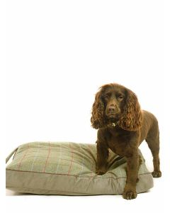 Tweedmill Dog Bed with Faux Suede Base - Sage and Silver Grey
