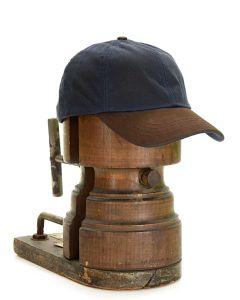 Tweedmill Waxed Baseball Cap with Leather Peak - Navy