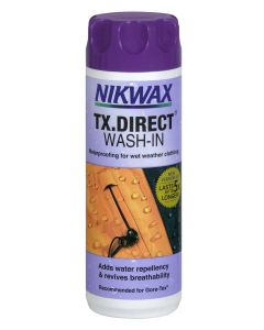 Nikwax TX Direct Wash-In - Re-proof wet weather clothing in the washing machine.