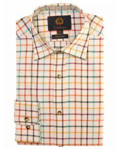 Viyella 100% Cotton Tattersall Shirt, Herringbone Multi Colour