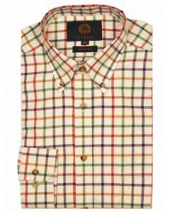 Viyella Cotton Twill Herringbone Tattersall Check Shirt